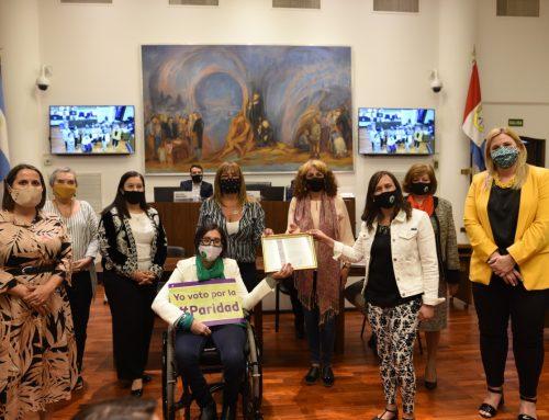 El Concejo reconoció el trabajo de la Mesa de Mujeres por la Paridad
